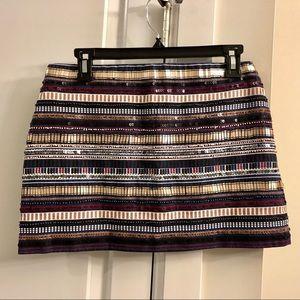 🔴 Zara Trafaluc Bead & Sequin Mini Skirt - Medium